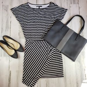 White House Black market striped t-shirt dress Med